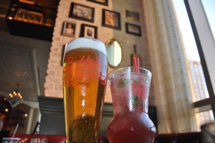 Beer and Mojito Italiano at Buddy V's Risorante in Las Vegas, NV