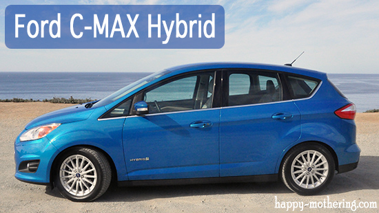 Ford C-Max Hybrid in front of the Pacific Ocean