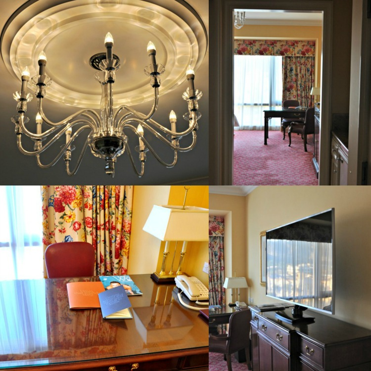 Collage of images from our room at the Four Seasons Westlake Village