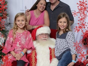 The Johnson Family with Santa at the Four Seasons Westlake Village