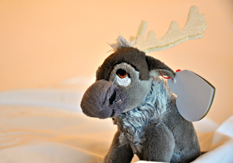 Cute stuffed Sven doll in our room at the Four Seasons Westlake Village