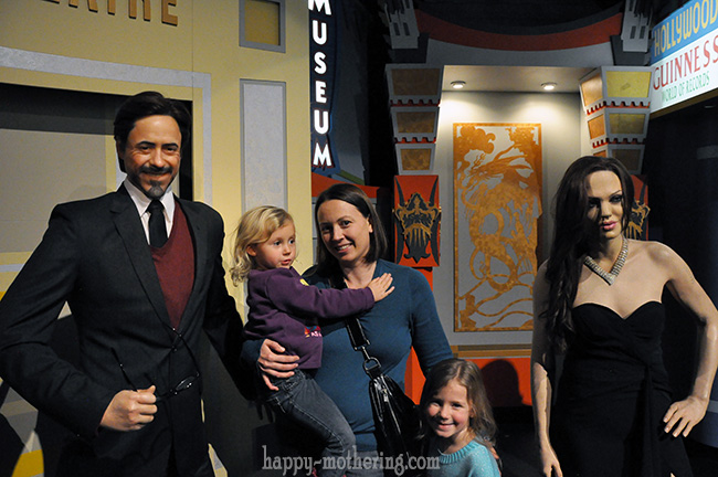 Chrystal, Zoë and Kaylee at the Hollywood Wax Museum