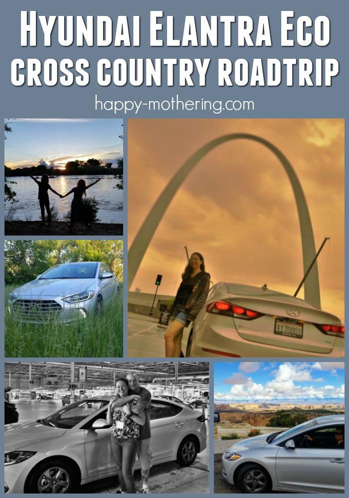 Collage of stops on our Hyundai Elantra Eco road trip