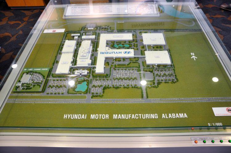 Model of Hyundai manufacturing facility in Alabama