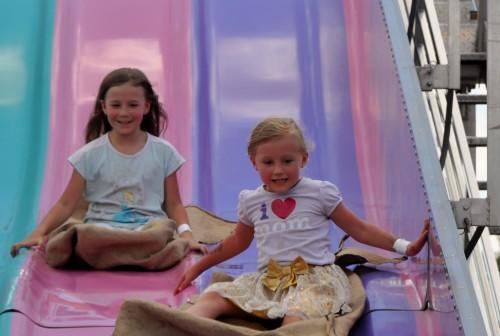 Kaylee wins the slide race