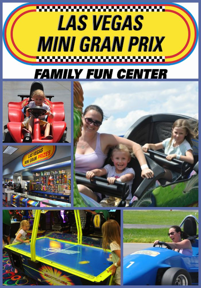 Collage of activities at Las Vegas Mini Gran Prix