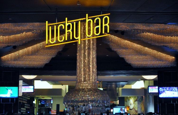 Lucky Bar Sign in Red Rock Casino