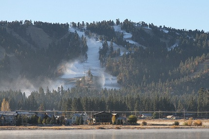 Snow blowing at Snow Summit
