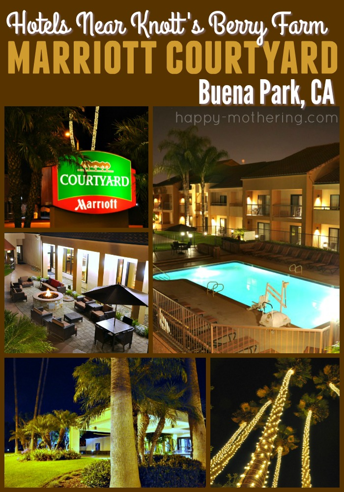 Collage of images of the Marriott Courtyard Buena Park