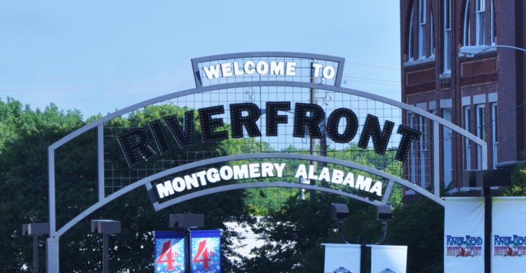 Montgomery Alabama Riverfront Sign