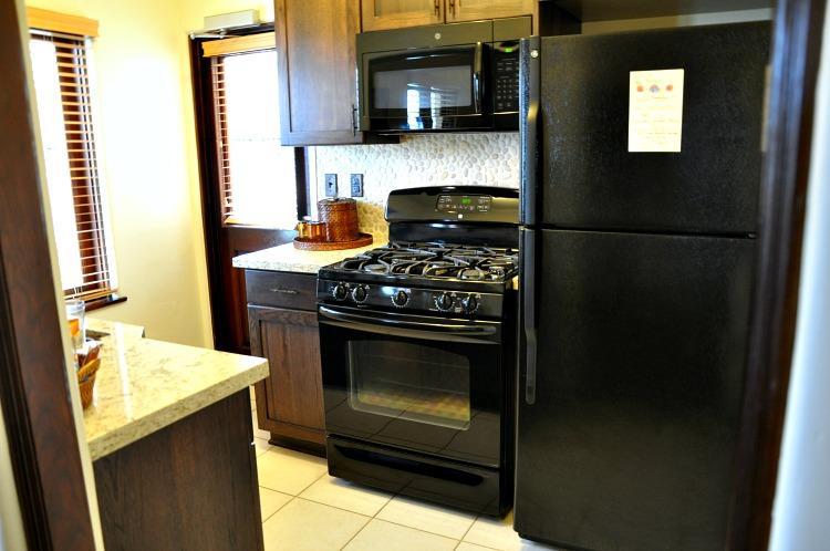 Pantai Inn suite kitchen