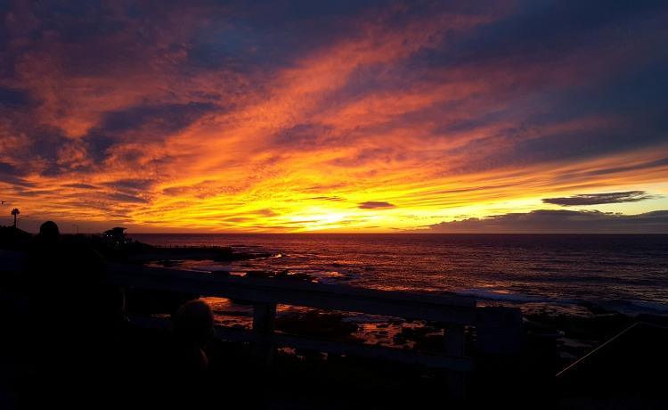 Sunset on the beach in La Jolla, CA