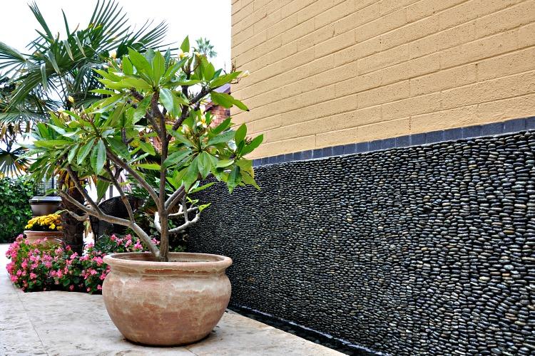 Zen water walls at the Pantai Inn in La Jolla, CA