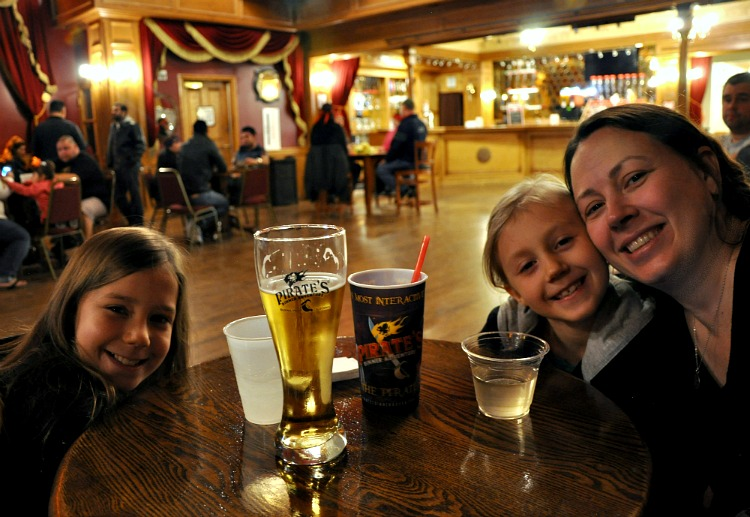 Chrystal, Zoë and Kaylee at the Pirate's Dinner Adventure Christmas Show