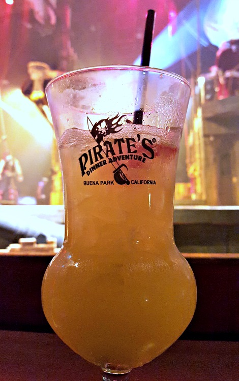 House cocktail at the Pirate's Dinner Adventure