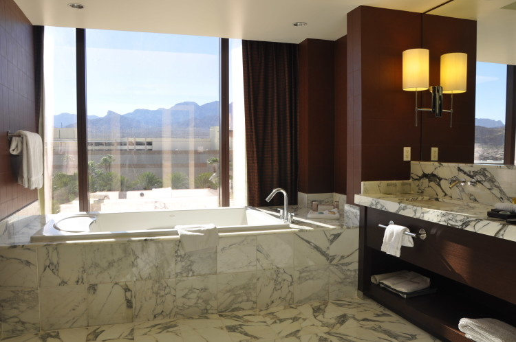 Huge bathroom overlooking desert at Red Rock Casino and Resort