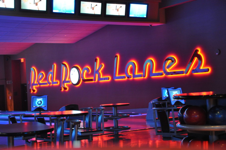 Red Rock Lanes Sign