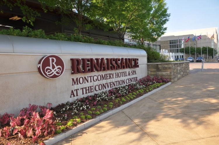 Renaissance Montgomery hotel sign