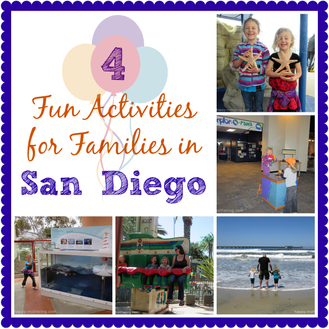 Collage of activities in San Diego