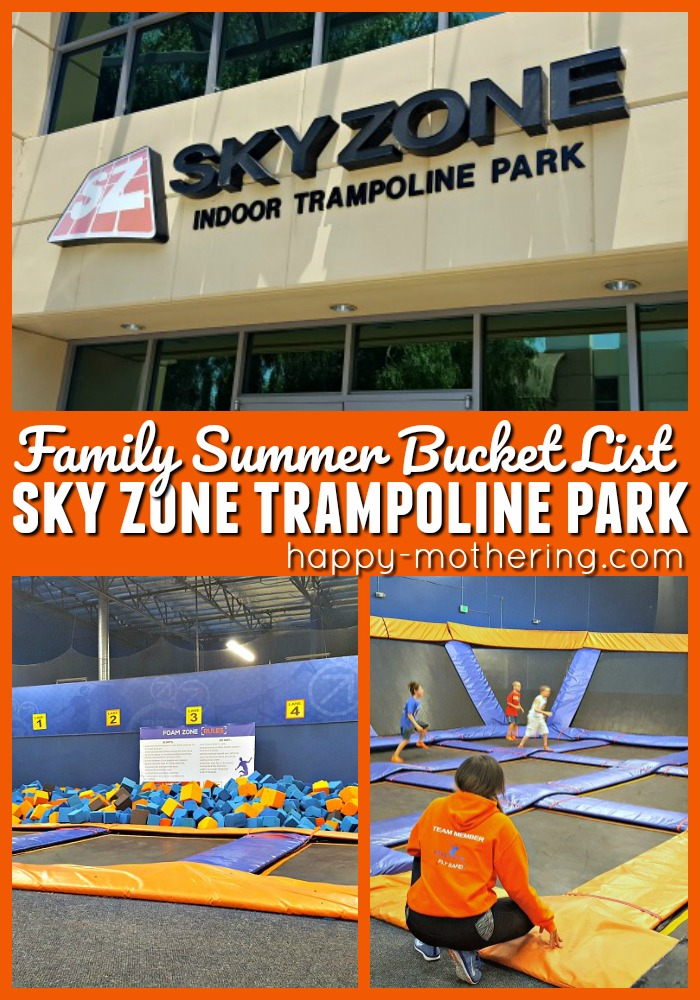 Collage of images from Sky Zone