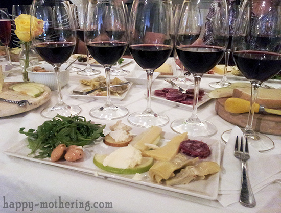 Food and wine plate at Swirl Sensational Wines