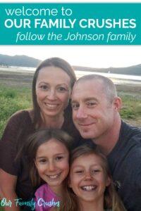 The Johnson family by Big Bear Lake
