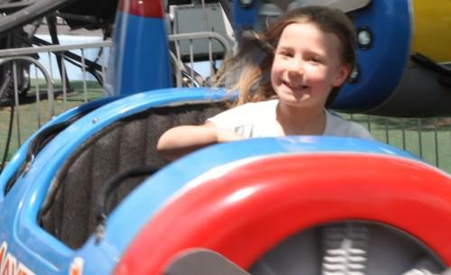 Zoë on the airplane ride at Las Vegas Mini Gran Prix