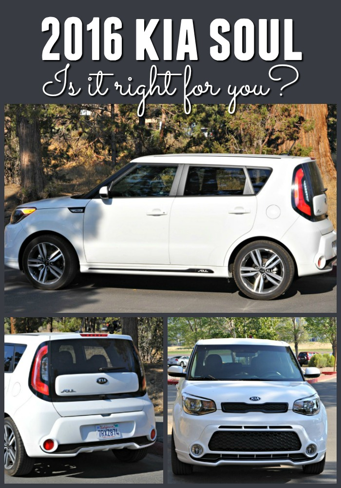 Three angle images of White Kia Soul