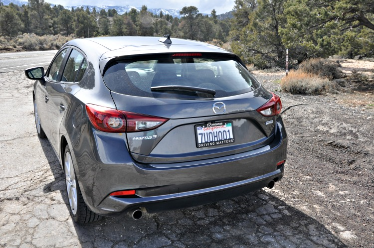 The Mazda3 Grand Touring has a hatchback