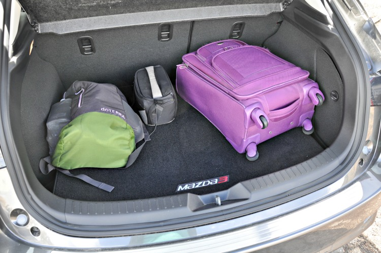 Mazda3 Grand Touring trunk with luggage