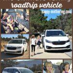 Collage of images of a white Kia Sedona Minivan