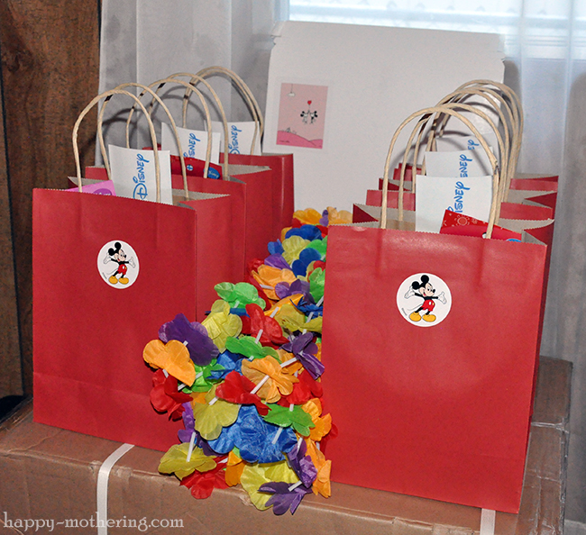 Disney goodie bags from Kaylee's birthday party