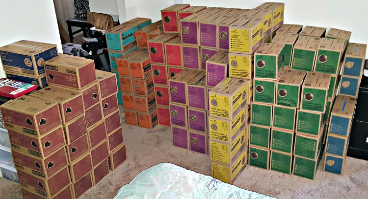 Hundreds of cases of Girl Scout Cookies