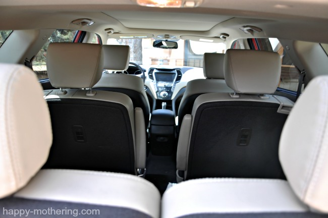 Third row is easier to access with 2nd row bucket seats in the Hyundai Santa Fe