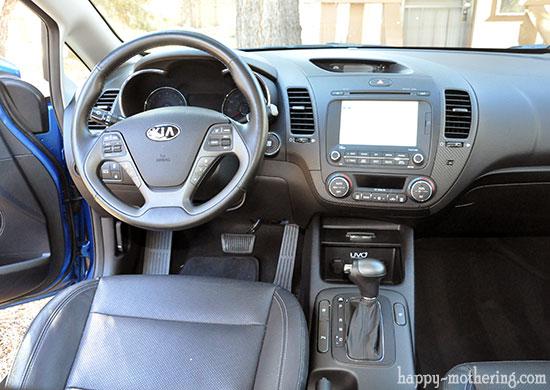 Drivers seat interior of the Kia Forte