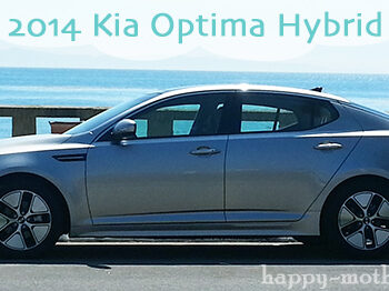 Kia Optima Hybrid parked by the ocean in Santa Barbara, CA