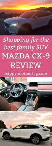 A few images of the Mazda CX-9 in a collage