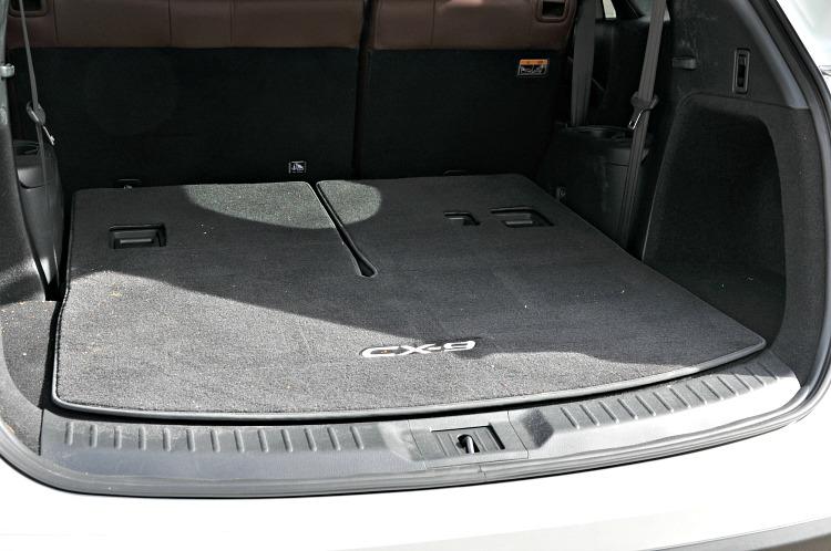 Mazda CX-9 back seats folded down