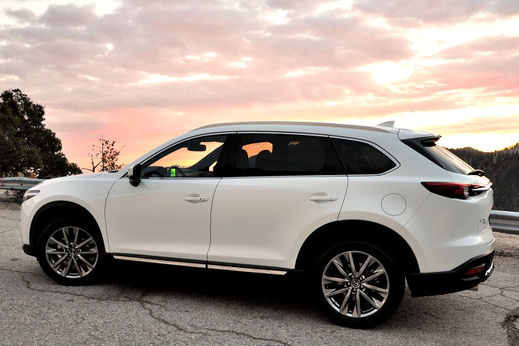 Mazda CX-9 side view with clouds in the background