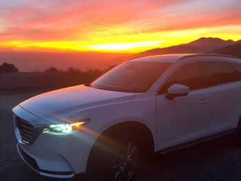 Mazda CX-9 at sunset