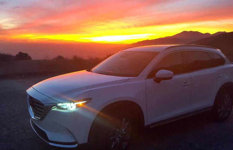 Mazda CX-9 at sunset