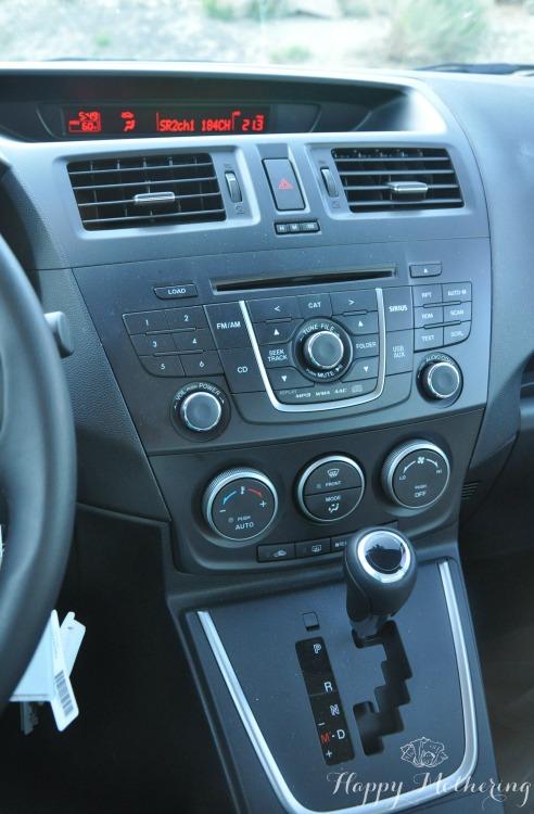 Mazda5 center console and dash