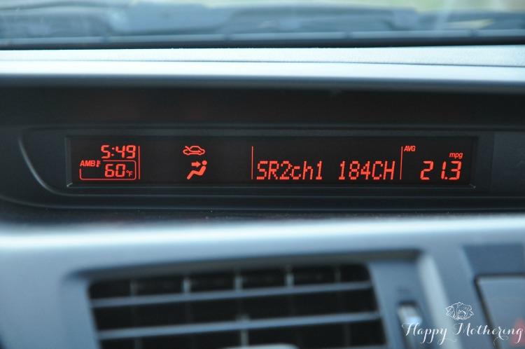 Mazda5 dashboard is basic