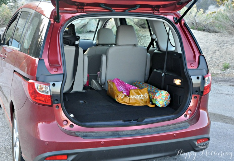 Mazda5 trunk space