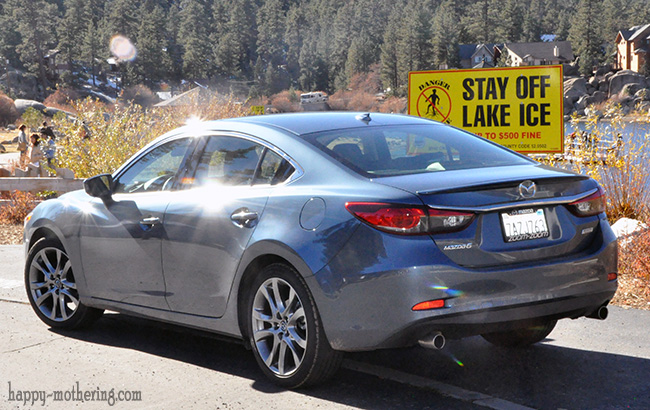 Mazda6 Grand Touring by stay off lake ice sign