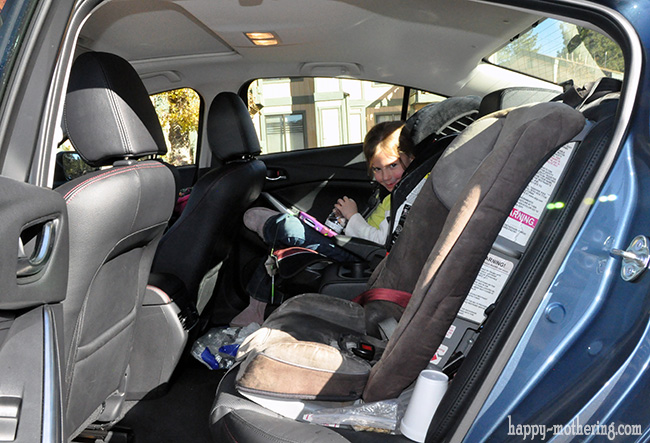 View of how car seats fit into the back seat of the Mazda6 Grand Touring