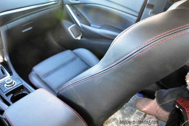 Mazda6 Grand Touring has detailed seat stitching