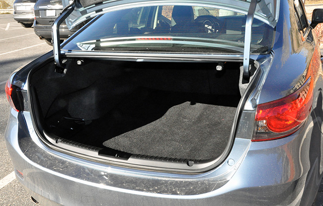 Trunk of the Mazda6 Grand Touring