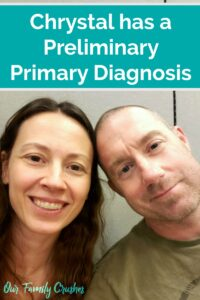 Chrystal and Brian at the Cardiologist learning about dysautonomia