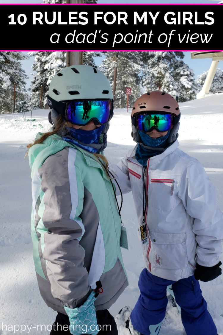 Zoë and Kaylee snowboarding in full gear